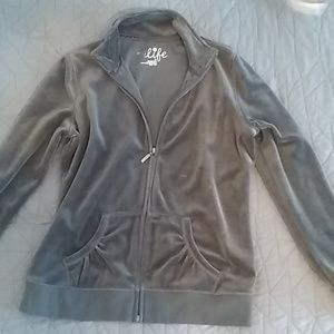 NWOT Gray Zip up Sweater